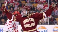 Boston College standout Sanford turns pro, signs with Caps