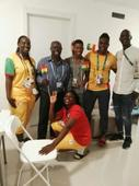Tony Baffoe: Ex-Black Stars defender visits Ghana's Olympic team in Rio