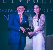 Dr. Blossom Kochhar was felicitated with the Beautypolis award for her contribution to the beauty industry