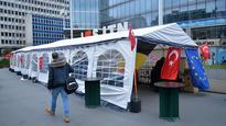 Turkish body pitches anti-terror tent in Brussels