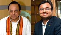 Swamy steps up heat on Chidambaram, reveals son Karti's secret account details