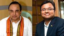Swamy steps up heat on Chidambaram, reveals son Karti's secret account details