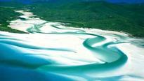 World's weirdest beaches: White silica sands of Whitehaven Beach
