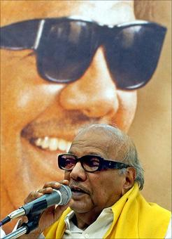 Karunanidhi appears in public for first time in a year