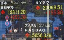 Global stocks fall as techs extend selloff; dollar gains