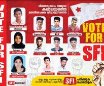 SFI withdraws posters without girl candidates, replaced with fresh posters