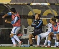 Suarez loses it again as Uruguay exit Copa America with defeat to Venezuela