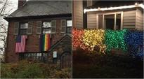 Rainbow lights, pride flags are part of Americans protest against homophobics