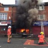 One injured as Harpurhey Cafe is destroyed in fire and explosion