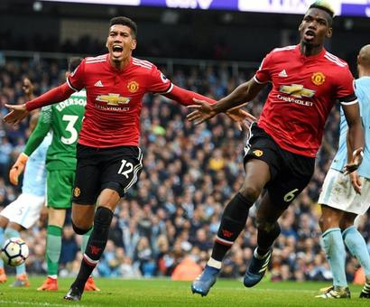 No celebration for Manchester City after United rally to win derby