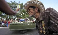 Cubans line streets as Russian jeep with Castro's ashes retraces revolutionary route