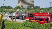 One dead, three injured after serious collision involving dump truck in north Etobicoke