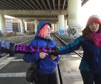 Inauguration Day protest on Caltrain tracks in SF prompts arrests