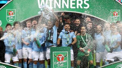 Man City thrash Arsenal to lift League Cup