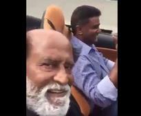 Fans go gaga over Rajini's selfie video from US