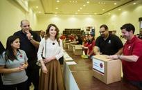 ASIA/JORDAN - Queen Rania visits the