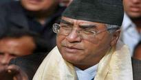 Newly-elected Nepal 40th Prime Minister Sher Bahadur Deuba takes oath of office