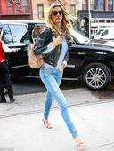 Gisele Bundchen puts her endless limbs on display for Met Gala fitting