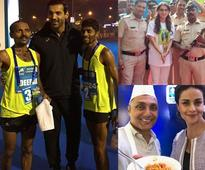 John Abraham, Rahul Bose, Juhi Chawla and other celebs add glamour to Mumbai Marathon 2017