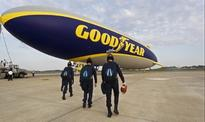 U.S. Air Force Wings of Blue Execute Historic Skydive from Goodyear Blimp