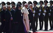 Pope cites genocide on visit to Armenia
