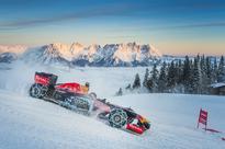 Red Bull unleashes new F1 car on Austrian snow
