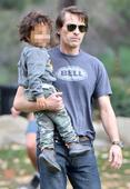 Olivier Martinez shows off his dad skills after split from Halle Berry