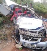 Kumta: Tempo Trax collides with Indica Car; 2 killed, 3 injured
