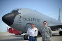 A family tradition: Grandfather, grandson maintain KC-135s
