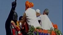 Gujarat: BJP, Congress workers fight to garland Ambedkar statue