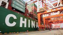 China exports down sharply