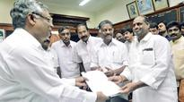 AIADMK nominees file papers for RS election