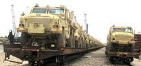 Egypt receives surplus U.S. armored vehicles