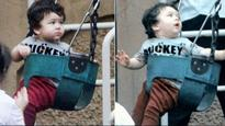Check out Taimur Ali Khan in a playful mood as he enjoys a swing
