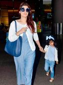 Spotted: Twinkle Khanna with daughter Nitara