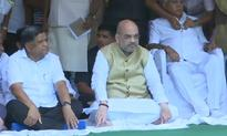 PM Modi, Amit Shah and BJP MPs stage hunger strike against Parliament washout