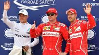 'Iceman' Kimi Raikonnen takes Monaco GP pole on Ferrari front row