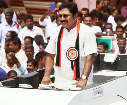 Dinakaran launches his new party, Amma Makkal Munetra Kazhagam