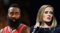 NBA star James Harden just can't fight that Adele feeling when it strikes
