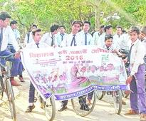 Students pedal for a cause