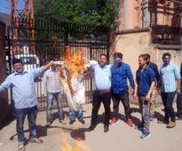 Protest against BSNL