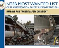 PTC, safety oversight & tank car change are all 'Most Wanted' by NTSB.