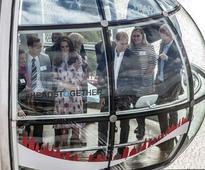 Britain's young royals mark World Mental Health day at London Eye