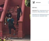 Watch: Akshay films his highly anticipated cameo for Taapsee's Naam Shabana