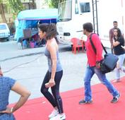 Snapped: Parineeti Chopra gets in her work out mode