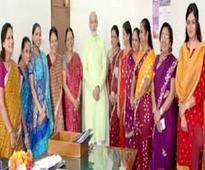 Narendra Modi meets women MLAs on International Women's Day