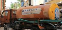 Water tanker at phone call for builders but people deprived of water