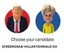 App replaces Pokemon creatures with Hillary, Donald mobile game