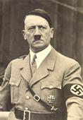On the marble: Adolf Hitler, Donald Trump