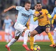 Immobile's brace lifts Lazio into Champions League spots